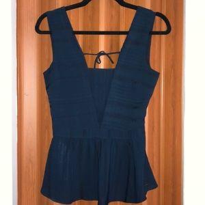 Armani exchange navy blue top